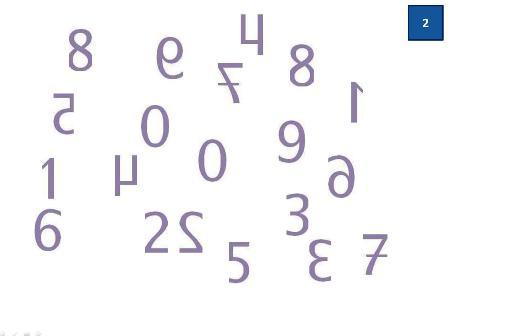 numerals reversed