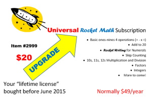 Upgrade Universal Rocket Math Subscription
