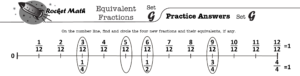 Fraction Number Line G