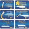 Screenshot of Rocket Math's reward cards.