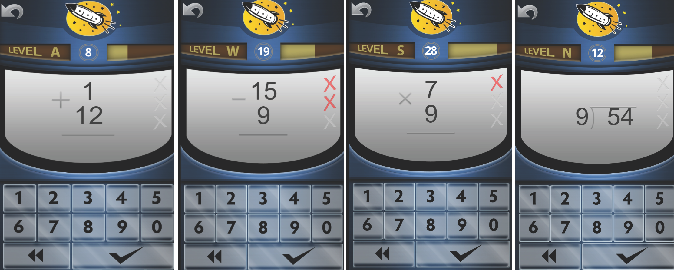 Rocket Math Online Game teaches all four operations