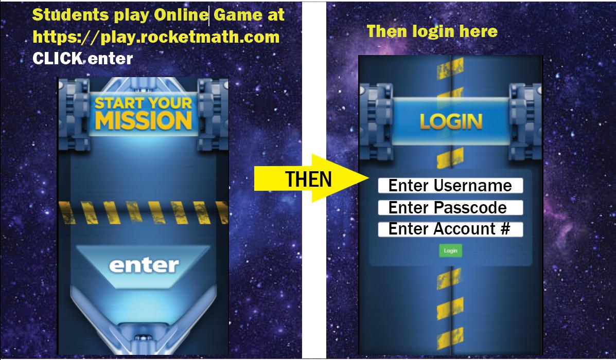screenshot of login