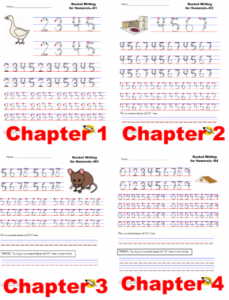 Image of worksheet to help kids who are writing numbers backwords learn to write them correctly.